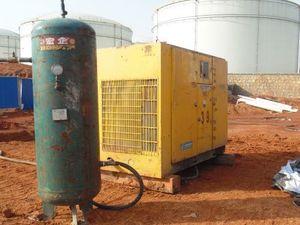 台湾复盛SA-475W天然气工地喷砂现场